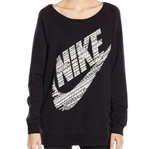 Nike Rally Boyfriend Fit Logo Crew Sweatshirt Med